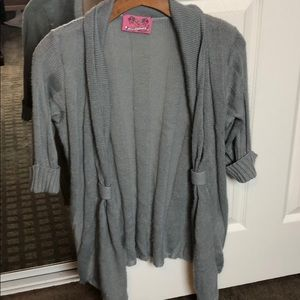 Open Front Gray Cardigan Size Small